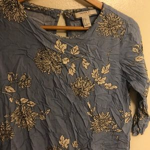 Forever 21 blouse small contemporary flowers